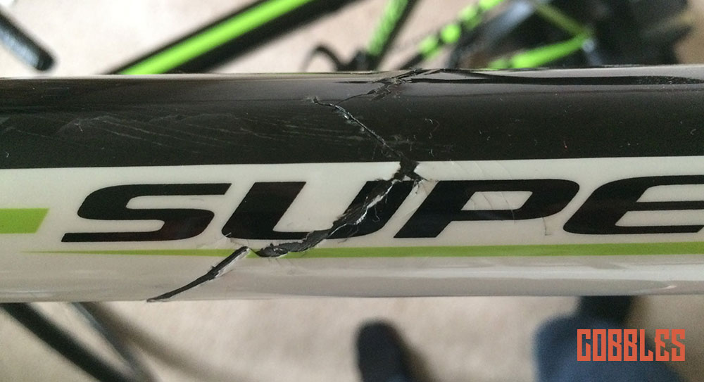 Cobbles tweedehands fiets frame scheur