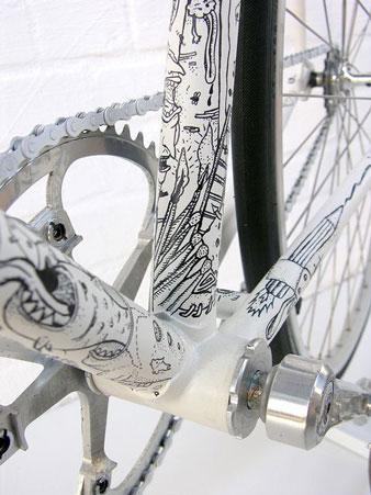 Cobbles tattoo fiets