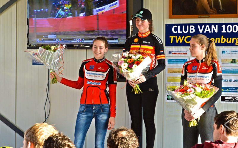 Cobbles-veldrijden-NSK-winnaars-dames-Open-Tilburgs-Kampioenschap-Irene