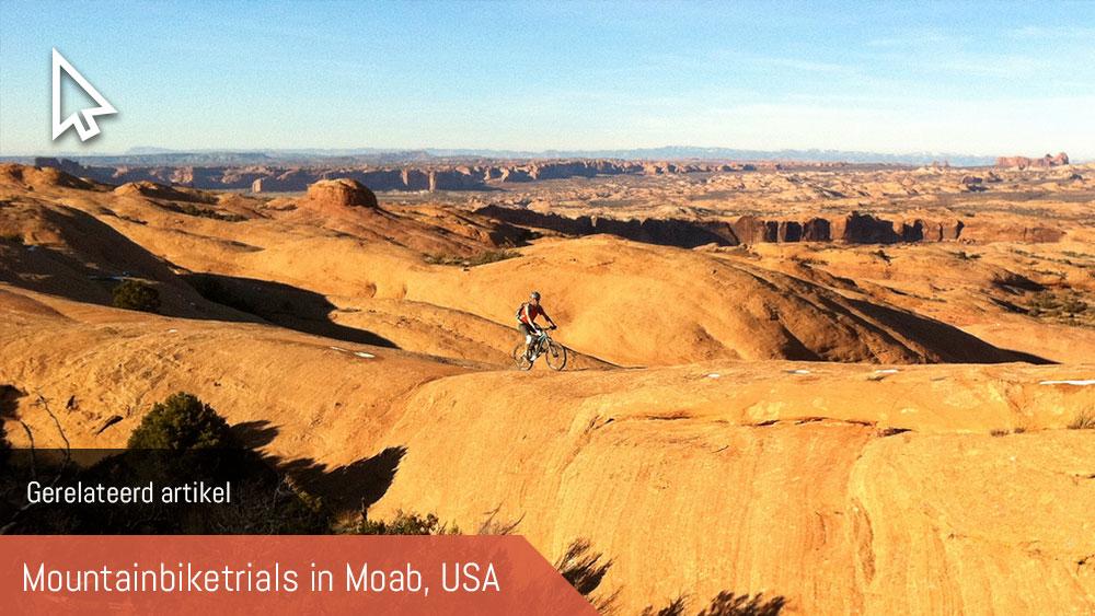 Cobbles mountainbiken Moab USA gerelateerd