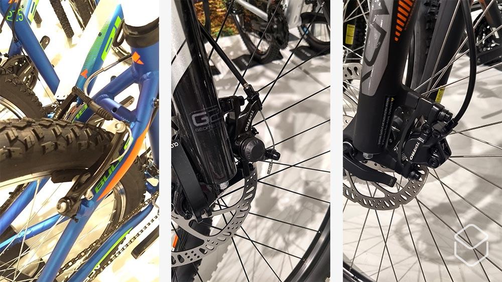 cobbles mountainbiken beginner mountainbike kopen v brakes mechanische schijfremmen hydraulische schijfremmen
