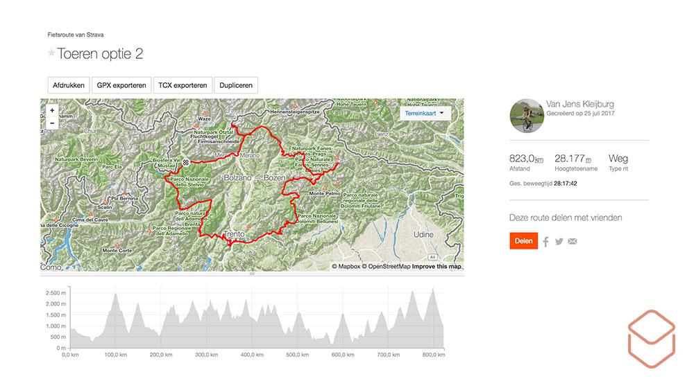 cobbles fietsvakantie italie strava route