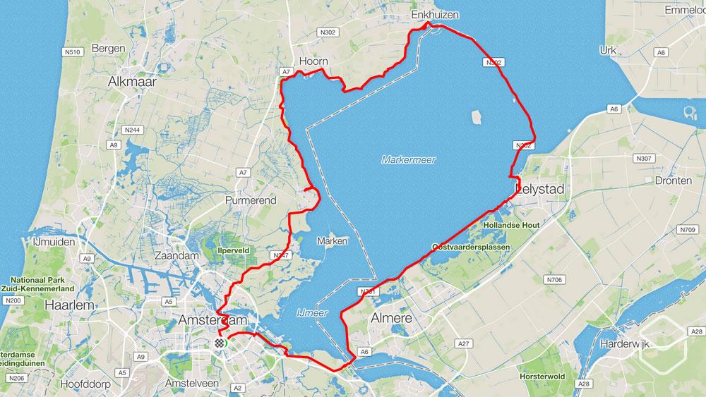 cobbles wielrennen routes amsterdam ronde markermeer
