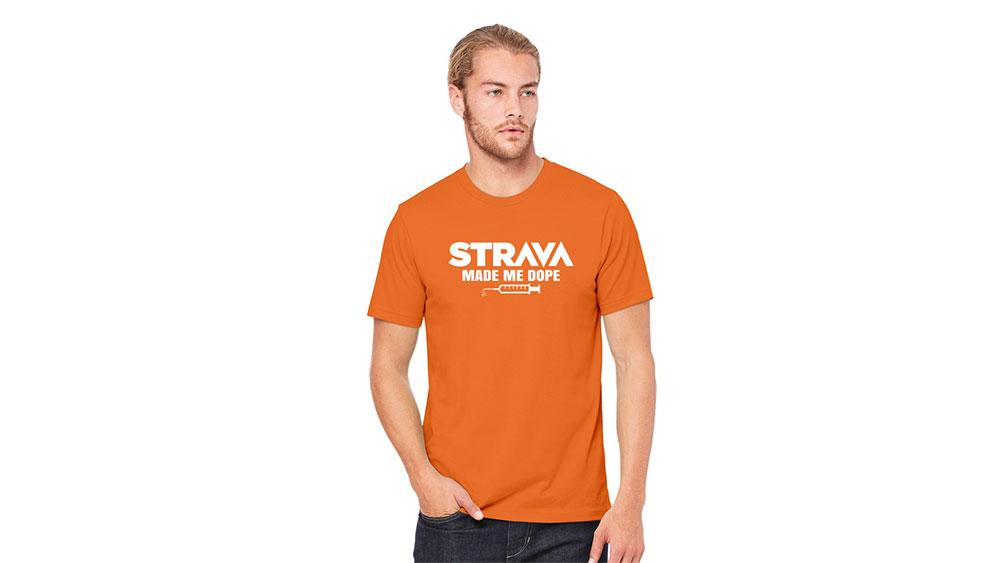 cobbles wielrennen strava made me dope t-shirt kom