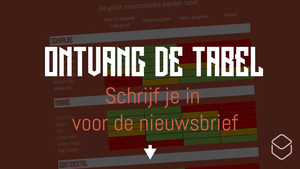cobbles mountainbike banden nederland tabel