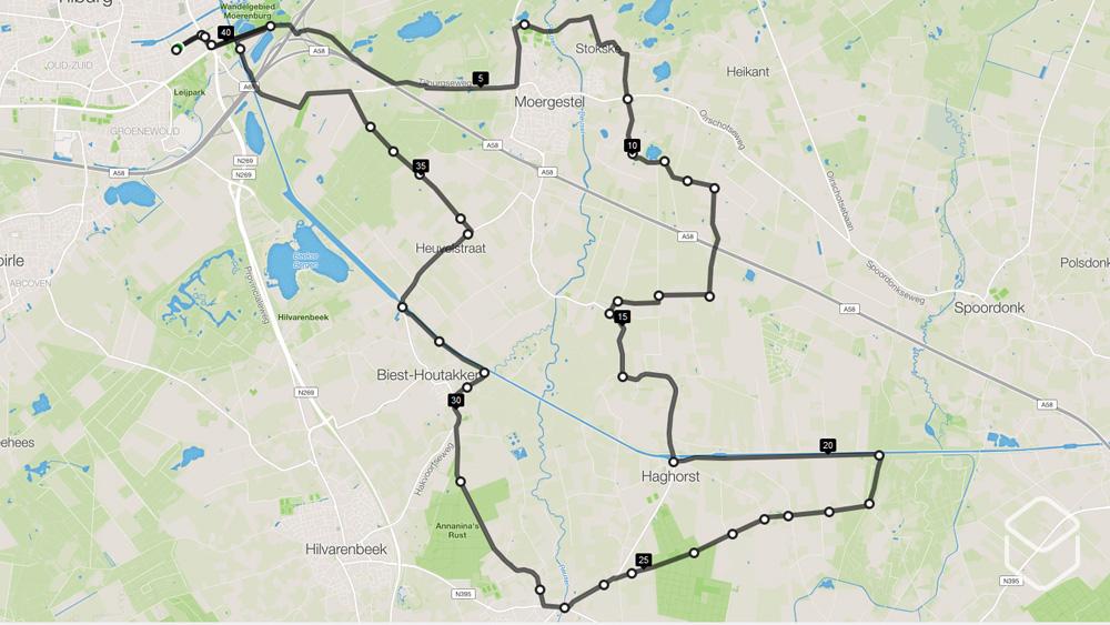 cobbles wielrennen routes tilburg kaart toeristsiche paadjes