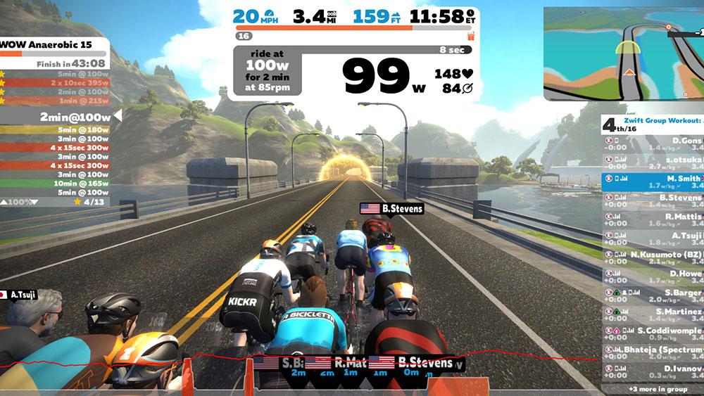 cobbles wielrennen zwift voordelen screenshot
