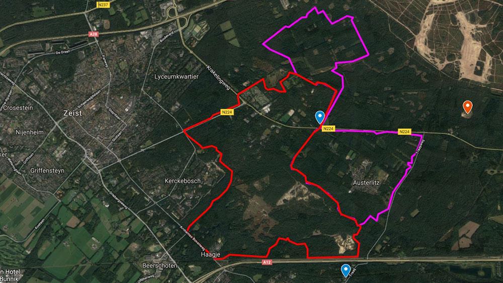 cobbles-mountainbiken-route-zeist-austerlitz-kaart