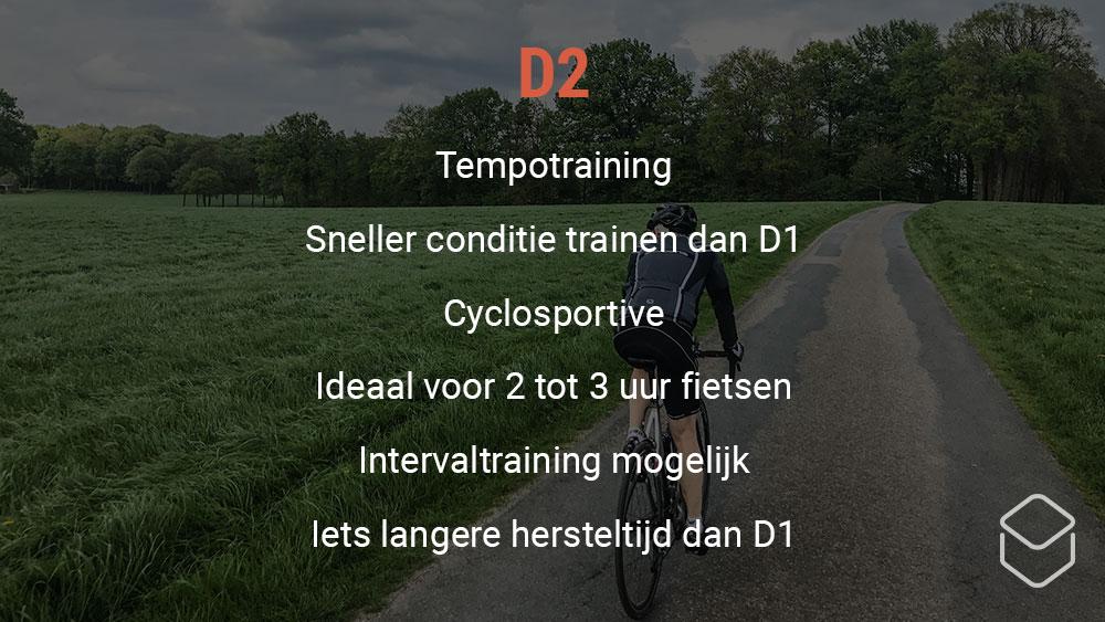 cobbles wielrennen training hartslagzone d2