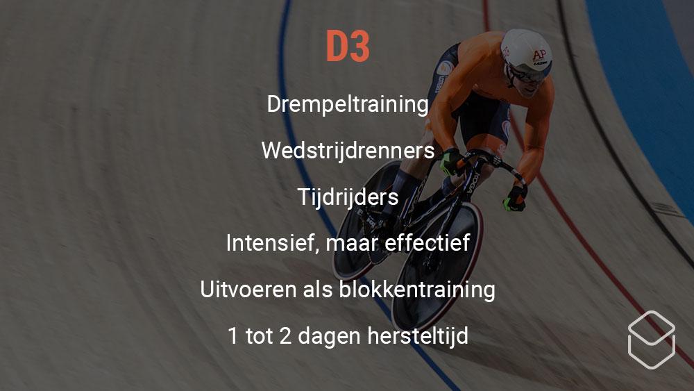 cobbles wielrennen training hartslagzone d3
