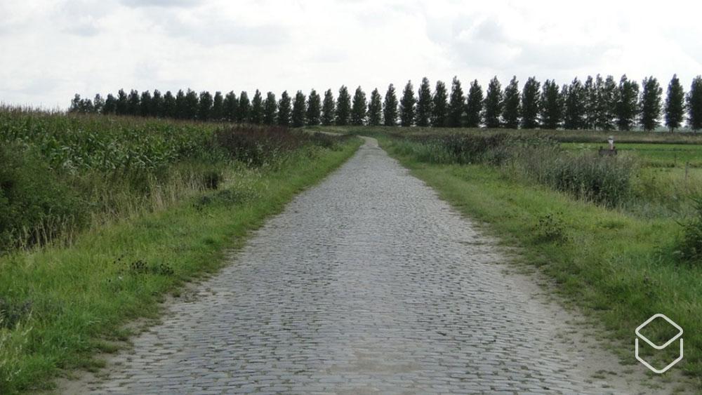 cobbles wielrennen routes hogerwaardpolder kasseistrook
