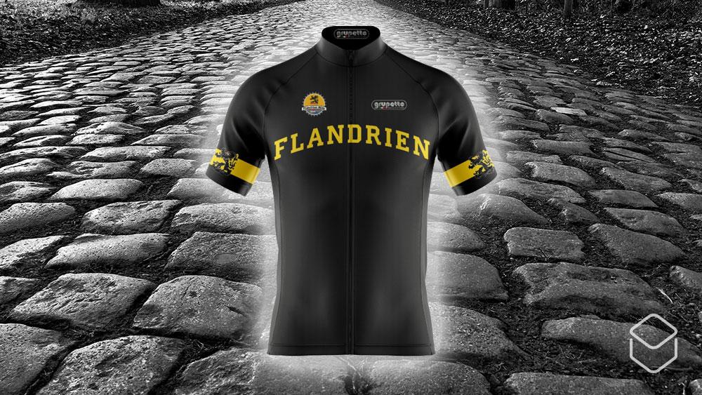 cobbles wielrennen virtual flandrien ride toertocht ronde van vlaanderen 2020 wielershirt