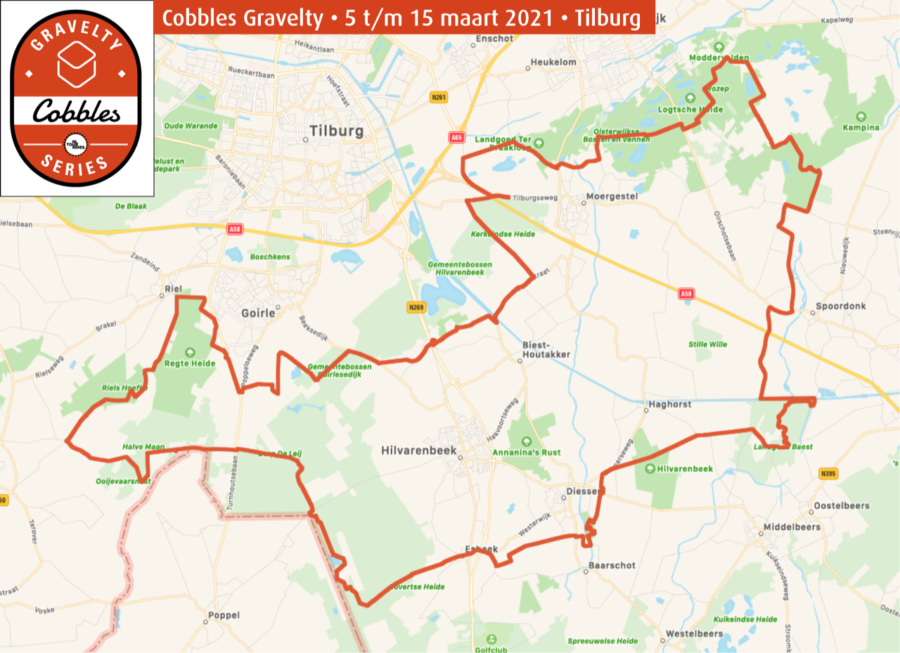 cobbles gravelty gravel toertocht route concept