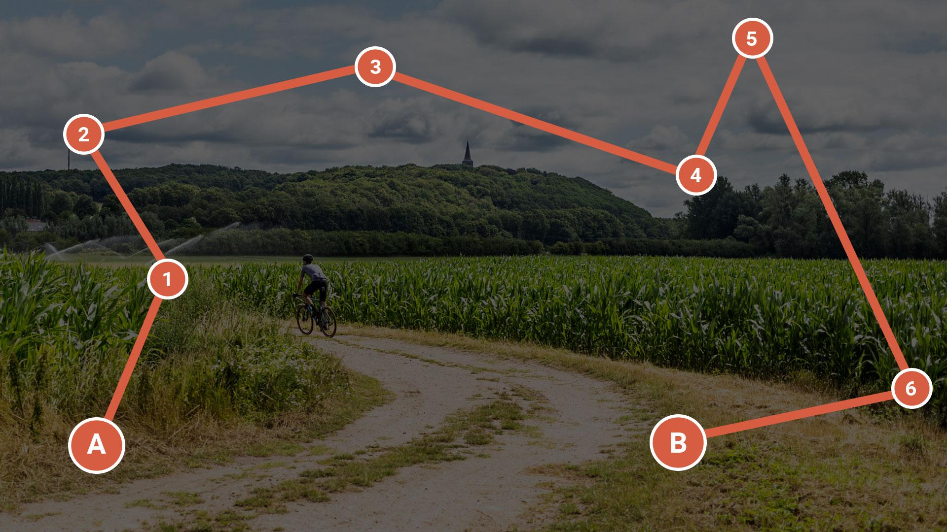 Bikepacking route: kies of maak een fietsavontuur met Komoot