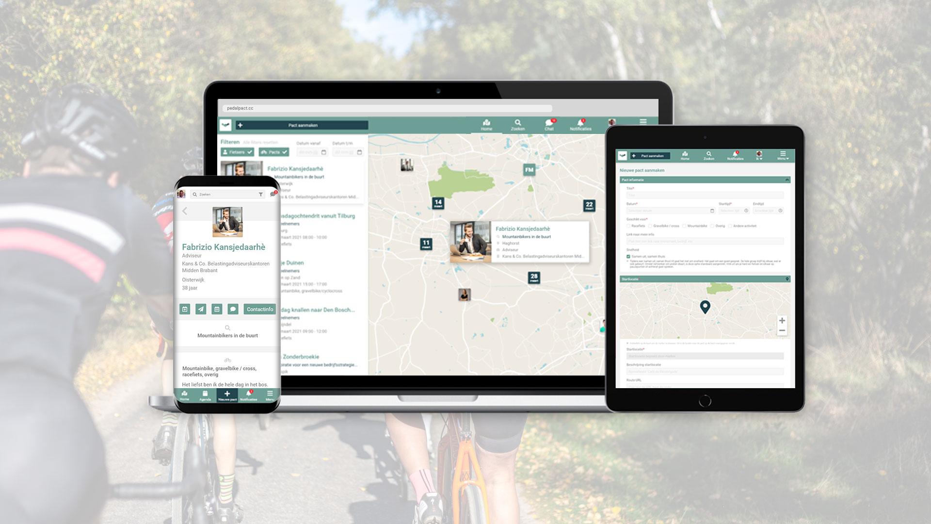 Het nieuwe 'Linkedin voor fietsers': vergroot je zakelijk netwerk via pedalpact.cc