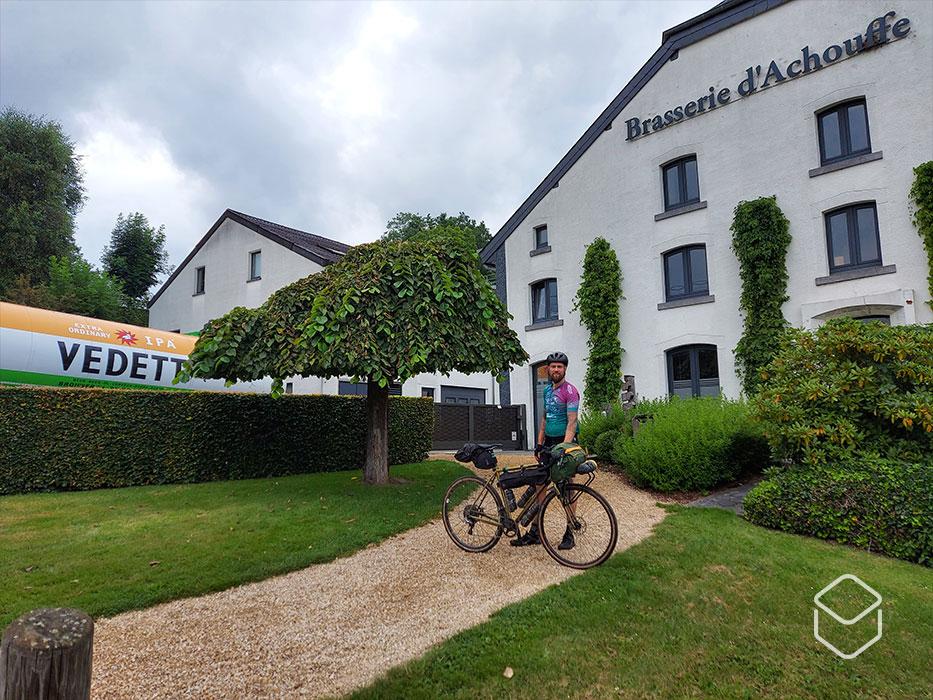 cobbles bikepacking route ardennes arbalete achouffe